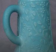 Light Blue Milk Glass SYRUP PITCHER