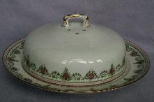 LIMOGES Porcelain Pancake Dish w/ Cover