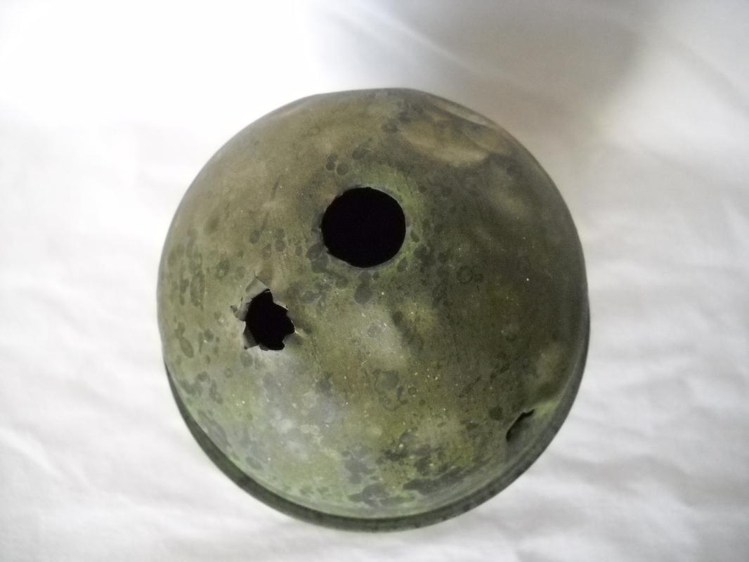 RARE Antique copper lighting rod ball
