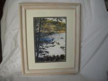 Copy of an original Pauline Viall. Spider Lake Fishing