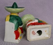 Occupied Japan SLEEPING MEXICAN BOY Porcelain Bookends - Ethnographic