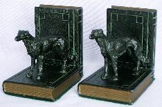 Ronson IRISH WOLFHOUND Cast Metal Bookends - Metalware