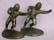 Hubley FOOTBALL PLAYER Cast Iron Bookends - Metalware