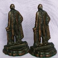 GEORGE WASHINGTON Cast Iron Bookends - Metalware