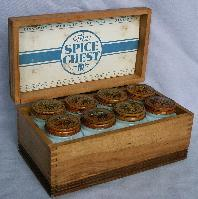 THE SPICE CHEST Set of 8 Shakers in Original Chest - Misc.