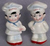TAPPAN Baker Boys Porcelain Salt & Pepper Shakers - porcelain