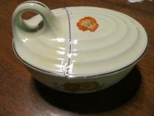 Hall Orange Poppy Covered Dish - Fine China