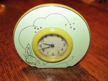 Art Deco Powder Bakelite Clock - Plastics