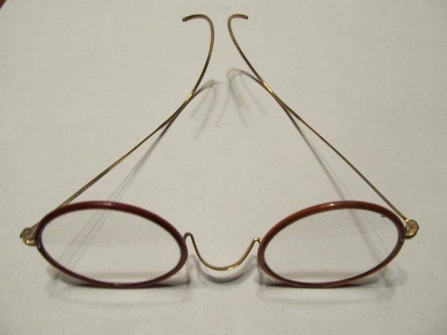 Eye Glasses Round Plastic Rim - Glass
