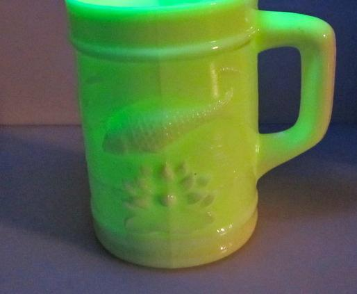 L.C. Wright Custard Glass uranium - glass