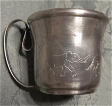 Baby Cup Animal Figures - Silver