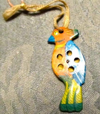 Tin Lithograph Parrot Whistle - Toy