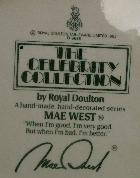 Royal Doulton MAE WEST Celebrity Collection Porcelain Jug