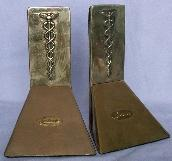 LEDERLE Medical Bronze Coated Bookends - Metalware
