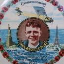 CHARLES LINDBERGH Porcelain Commemorative Plate and Lucky Lindbergh Coin