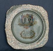 KING GEORGE and QUEEN ELIZABETH Commemorative Porcelain Plate