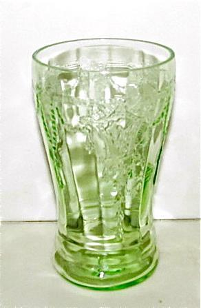 CAMEO BALLERINA Hocking Green Depression  - Glass