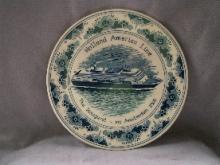 HOLLAND AMERICA LINE 2000 Amsterdam Inaugural Porcelain Plate