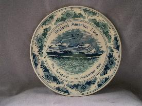 HOLLAND AMERICA LINE 2000 Amsterdam Inaugural Porcelain Plate
