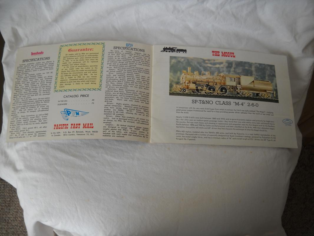 Vintage. Scale toy train catalogs. (2).