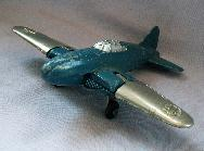 Blue & Silver HUBLEY Jet No. 430 Toy Airplane