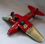 Red & Silver HUBLEY Jet No. 430 Toy Airplane