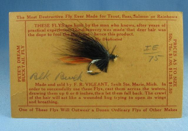 BLACK BUCK  Fly Fishing Lure - Vintage Sporting Bait
