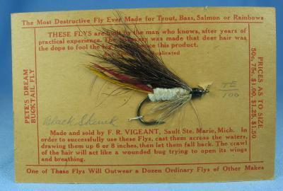 BLACK SKUNK  Fly Fishing Lure - Vintage Sporting Bait