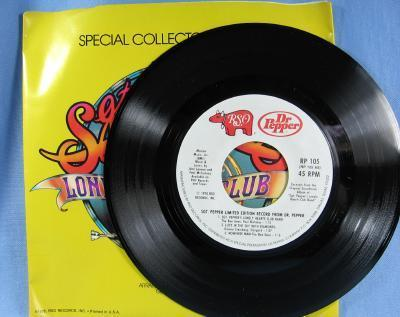 Dr Pepper Special Collectors Edition SGT PEPPERS Lonely Heart Club Band 45 RPM Record - Limited Edition Advertising