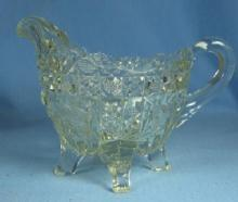 old Vintage Heisey clear Glass CREAMER Pitcher