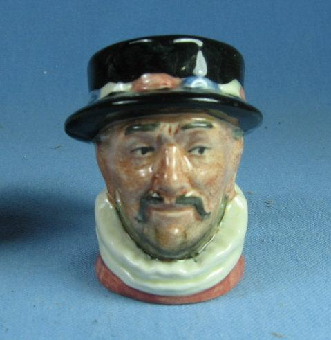 Royal Doulton Mini BEEFEATER Miniature Toby Mug - Antique Porcelain