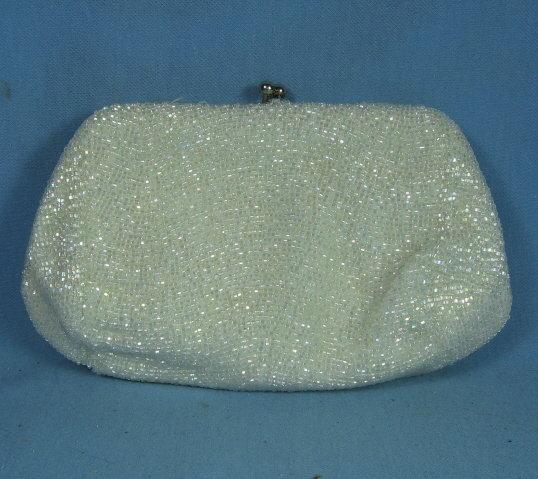 Vintage BEADED Purse CLUTCH Handbag - Misc Apparel Accessory