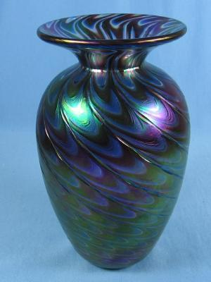 Mt St. Helen's Volcanic Ash Glassworks - Art Glass Vase