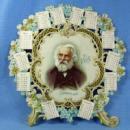 old vintage 1898 Diecut Calendar - Victorian Die Cut of LONGFELLOW  - Victorian Paper