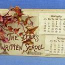 old vintage Victorian Die Cut Hand Fan Greeting  - paper VIOLETS Valentine