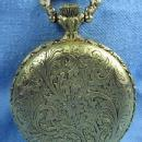 old Swiss Made 17 jewel Pocket Watch - Hunt Scene DOG & DUCK Vintage Jewelry