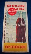 1957 Ink Blotter Coca-Cola - Advertising