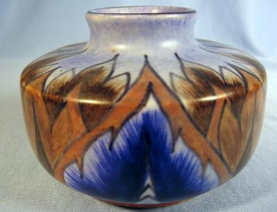 Chameleon Ware Art Pottery Blue - George Clews