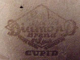 1900 Baby Shoes CUPID Black - Vintage -Collectibles
