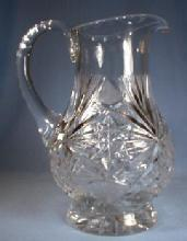 Cut Glass Lead Crystal Pitcher - Vintage