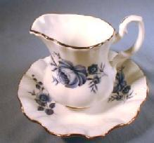 Royal Dover Bone China SYRUP PITCHER with UNDERPLATE