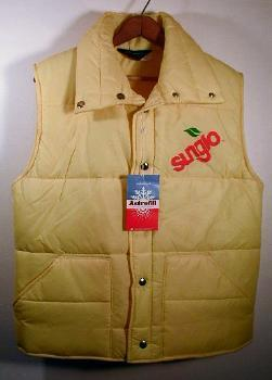 SUNGLO Juice Advertising Vest -  New with Tag ~ 100% Polyester Fiberfill XL - Vintage Advertising Premium NEW unused