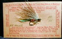 old Vintage Fly Fishing Bait  Lure - Hand Tied BK BUCK-  Buck Tail Fly - Vintage Sporting