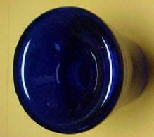Cobalt Blue Funnel Inkwell - Glass
