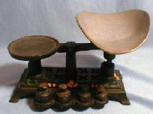 Antique  Miniature Cast iron Balance Scale - Metalware