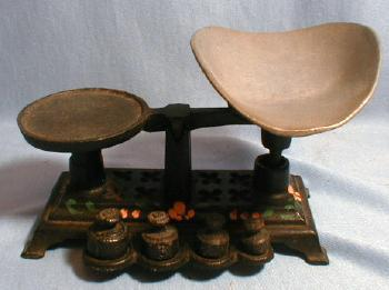 Antique  Miniature Cast iron Balance Scale - Metalware