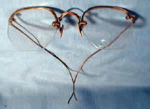 Victorian Era Eye Glasses 1880 - Gold Filled Spectacles - misc