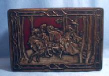Kitchen  Riley's TOFFEE Tin - Hunting Scene - Equestrian  Hunting with Falcons - Vintage Advertising Metalware