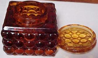 AMBER Thousand Eye  INKWELL - Glass