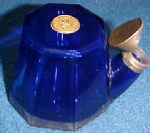 TEAKETTLE COBALT INKWELL with Lid - Glass